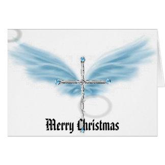 cross, Merry Christmas Card