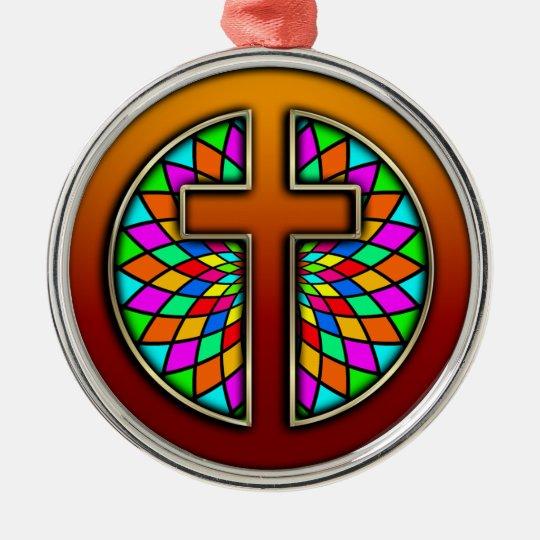 Cross Metal Ornament