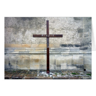 cross missio greeting card