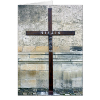 cross mission greeting card