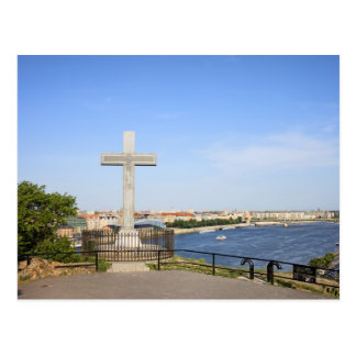Cross Monument on the Gellert Hill in Budapest Postcard