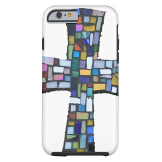 cross mosaic colored red blue green Christian iPhone 6 Case