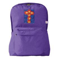 Cross Motif American Apparel™ Backpack, Amethyst American Apparel™ Backpack