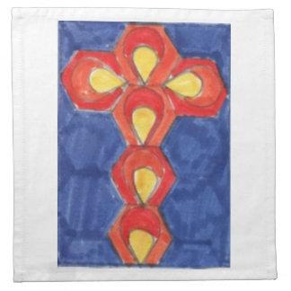 Cross Motif Cloth Napkins