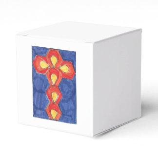 Cross Motif Cube Gift Box