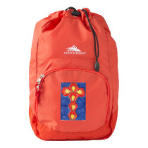 Cross Motif High Sierra Backpack