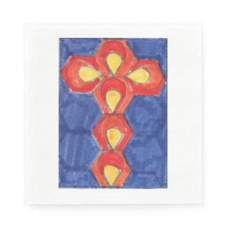 Cross Motif Luncheon Paper Napkins