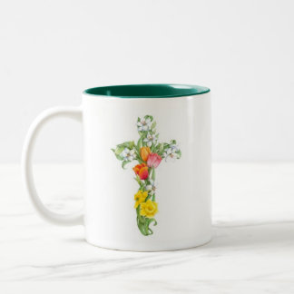 Cross Mug - Daffodil and Tulip