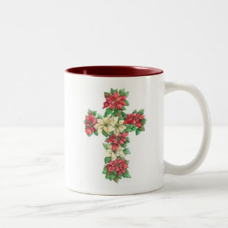 Cross Mug - Poinsettia