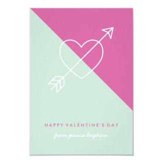 Cross My Heart Classroom Valentine - Fuchsia Card