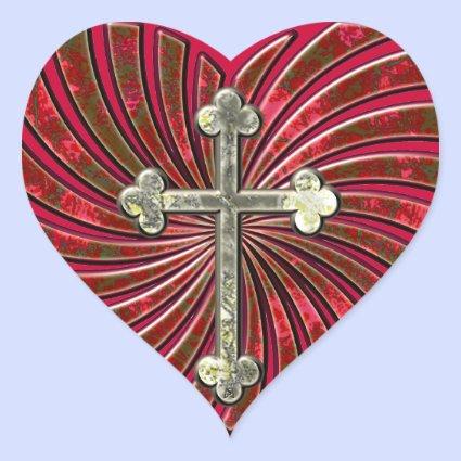 Cross My Heart Heart Stickers