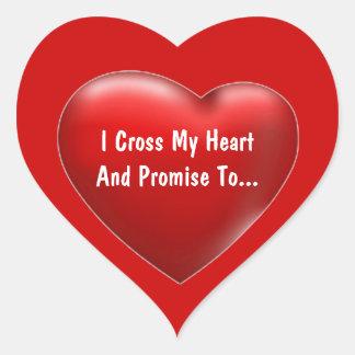 Cross My Heart - Sticker