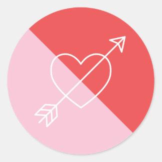 Cross My Heart Sticker - Berry