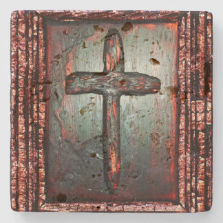 Cross of Blood Stone Coaster