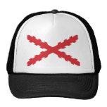 Cross of Burgundy Flag Mesh Hats