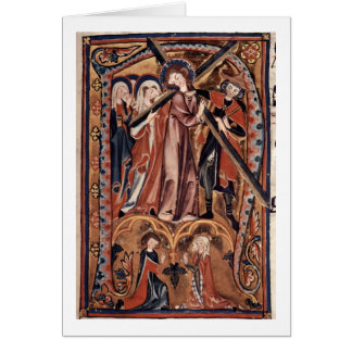 Cross Of Christ By Master Of The Gradual Greeting Card