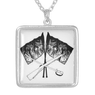 cross of guard silver plated necklace