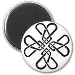 Cross of Hearts Fridge Magnets