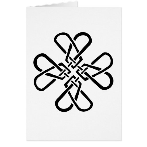 Cross of Hearts Greeting Cards