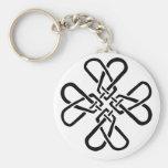 Cross of Hearts Keychain