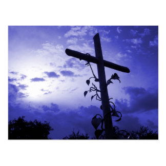 Cross of Jesus I am the Vine Christian Post Card
