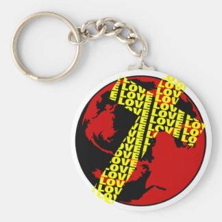 Cross of Love Religious gift design Keychain