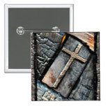 Cross of Protection 2 Inch Square Button