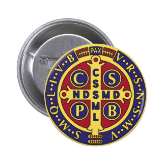 Cross of St. Benedict 2 Inch Round Button