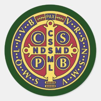 Cross of St. Benedict Classic Round Sticker