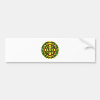 Cross of St. Benedict Design 2 Car Bumper Sticker