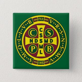 Cross of St. Benedict Design 2 Pinback Button