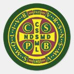 Cross of St. Benedict Design 2 Round Sticker