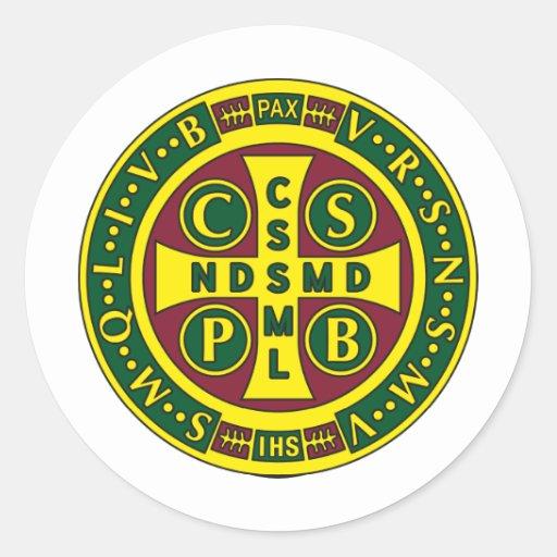 Cross of St. Benedict Design 2 Sticker