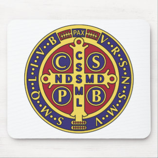 Cross of St. Benedict Mouse Pad