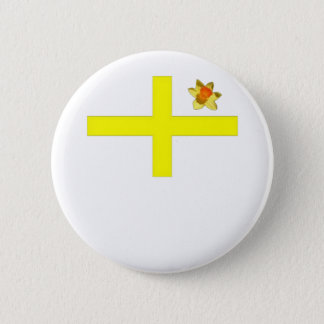 Cross of St David with Daffodil Pinback Button
