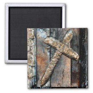 Cross of Strength 2 Inch Square Magnet