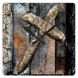 Cross of Strength Wall Clocks