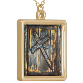Cross of The Apocalypse Gold Plated Necklace