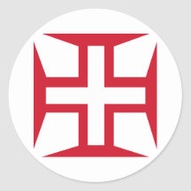 Cross of the Order of Christ Stickers