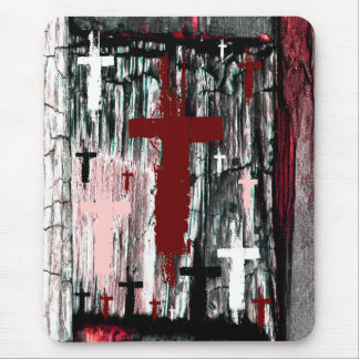 Cross of The Tormented Mouse Pad