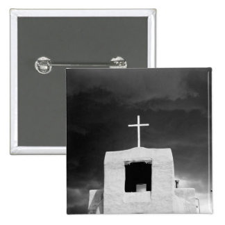 Cross on oldest church, San Miguel, Santa Fe, Pinback Button