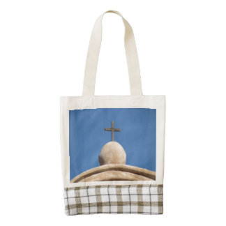 Cross on the Mission Church Zazzle HEART Tote Bag