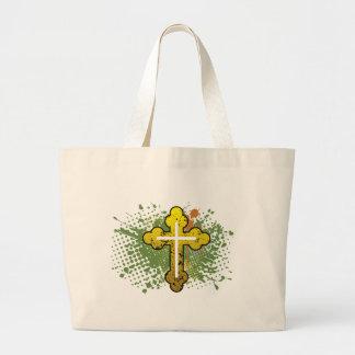 cross organic yellow lines bg canvas bags