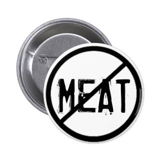 Cross Out Meat 2 Inch Round Button