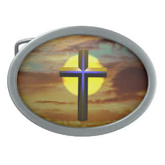 Cross Oval Belt Buckle