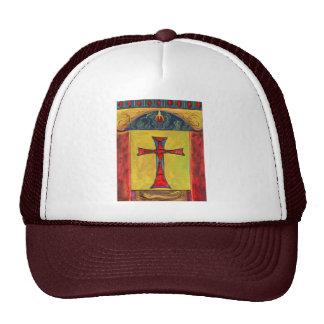 Cross over Snake Medieval Style Cross Design Trucker Hat