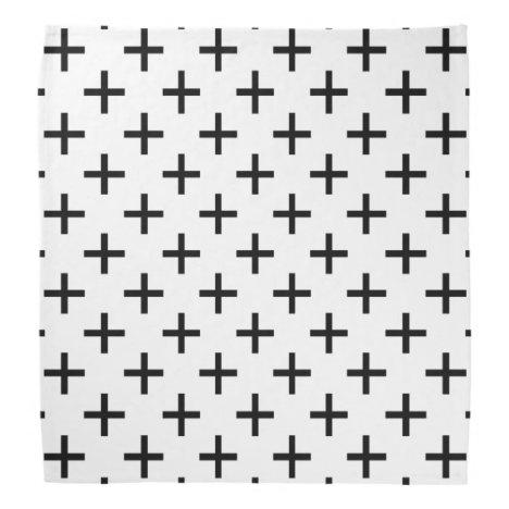 Cross Pattern Bandana
