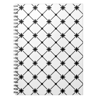 Cross Pattern Black and White Note Book