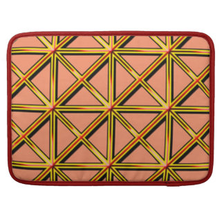 Cross pattern MacBook pro sleeve