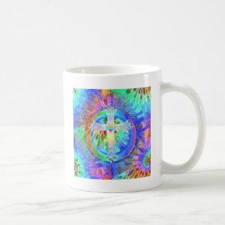 Cross, Peace Sign Coffee Mugs